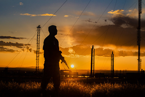Security Police Officer at Sunset | by SandiaLabs