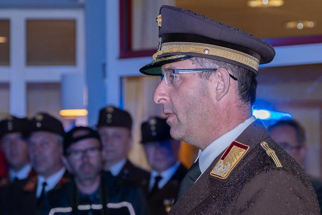 Empfang Landesfeuerwehr-kommandant Robert Mayer MSc am 29.05.2019 in Schwanenstadt