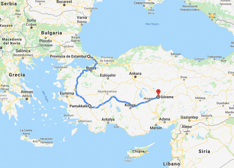 Mapa Pamukkale 2