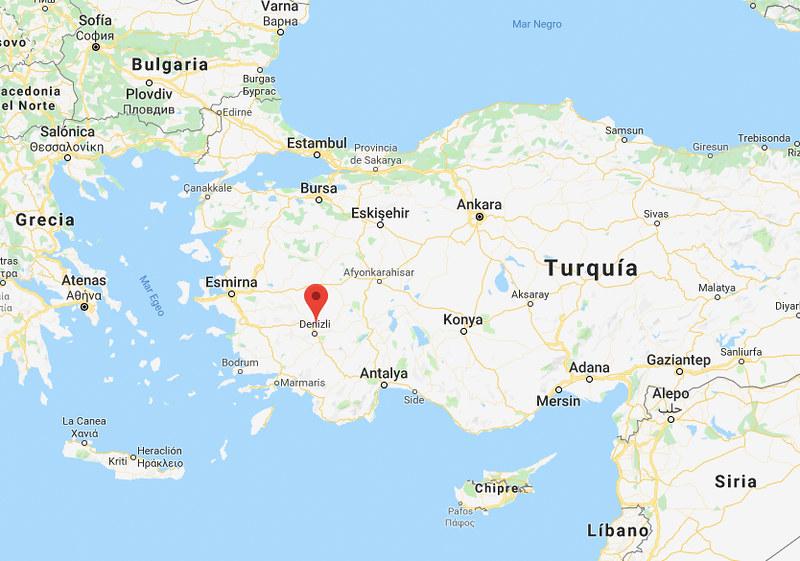 Mapa Pamukkale_