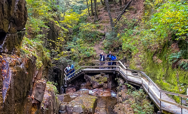 The Flume Gorge in Franconia Notch State Park, New Hampshire