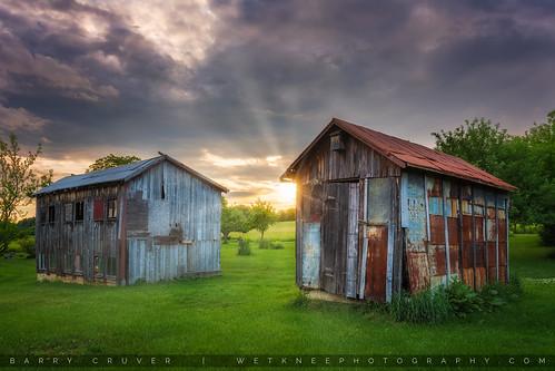 barns carboncounty lehighton nikon pennsylvania wetkneephotography countryside decay farm rustic sunset