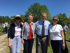 Rep. McCarty (second from left) with First Selectman Dan Steward, Suzanne Maryeski and Diantha McMorrow at the East Neck Cemetery Memorial Day ceremony to honor and remember our military servicemen who lost their lives in the line of duty.