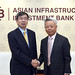 President Nakao visits Asian Infrastructure Investment Bank (AIIB)