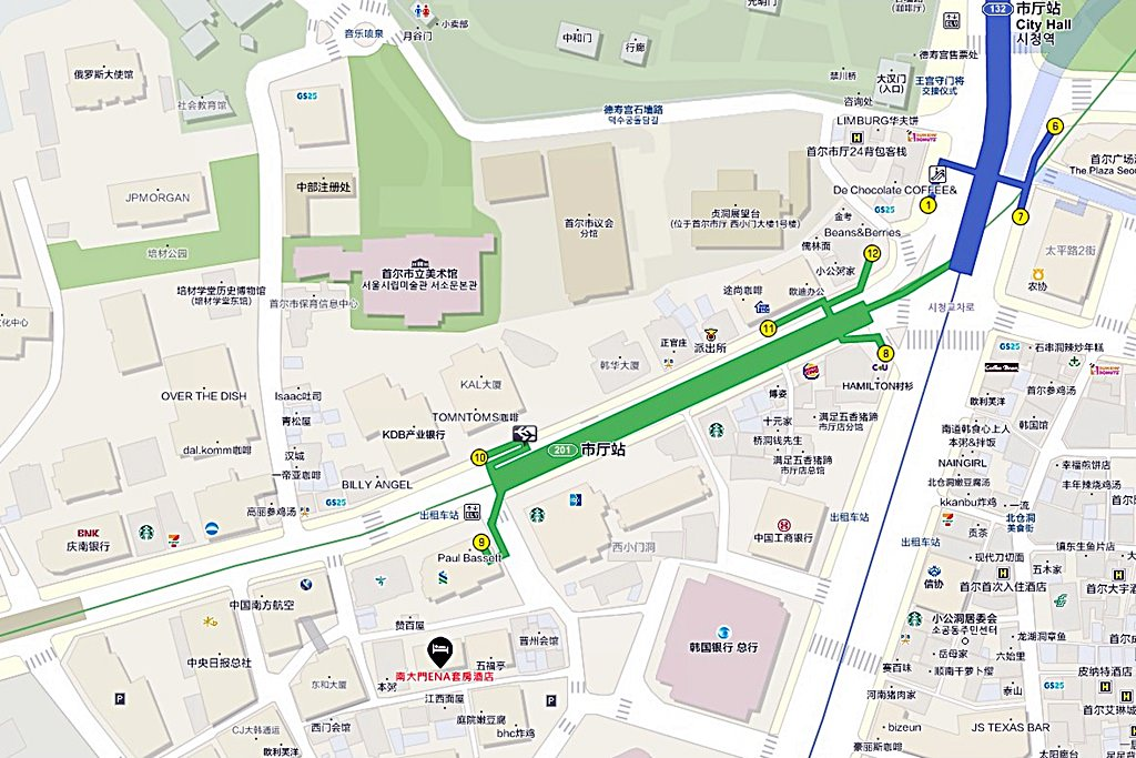 ENA Suite Hotel Namdaemun Map