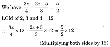 Extra Questions for Class 8 Maths Linear Equations in One Variable Q8.1