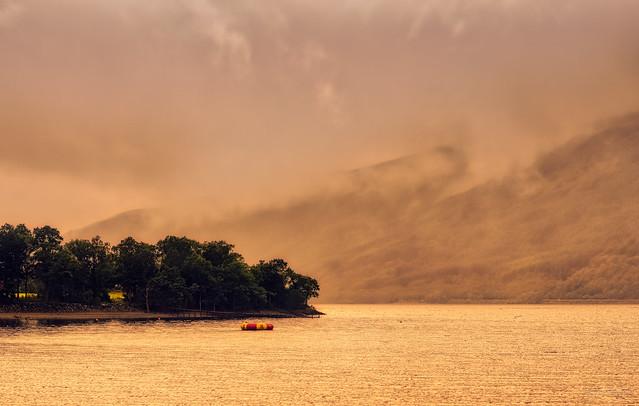 Golden light at Loch Lomond.