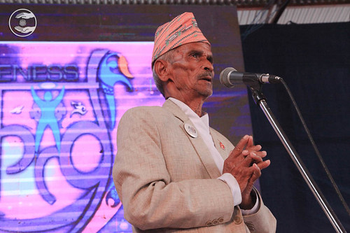 Vice-President SNM Nepal, Krishan Bahadur Pant from Lalitpur