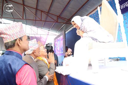 Mayor of Lapumanpa, Shri Chiribabu Maharjan seeking blessings