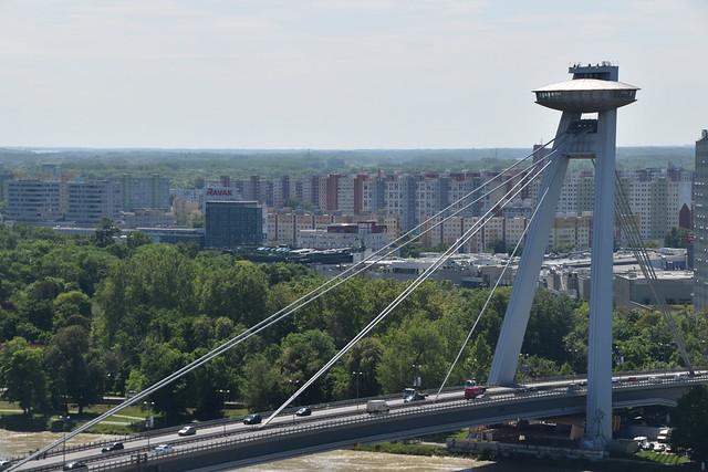 UFO Bridge, Bratislava, Slovakia.