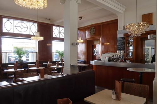 Innenaufnahme im Café Bazar