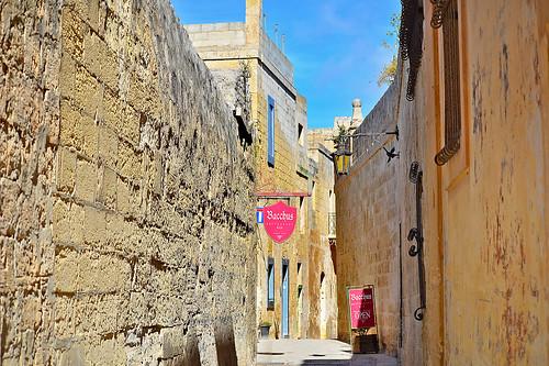 Triq Inguanez, Mdina, Malta - 2 May 2019