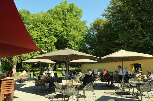 Außenbereich des Parkcafé Schloss Hellbrunn