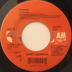 JANET JACKSON:RUNAWAY(LABEL SIDE-A)