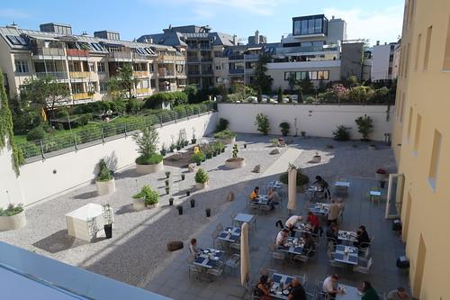 Gastgarten des Hotels Hofwirt (in Salzburg)