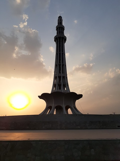Minar-e-Pakistan sunset mobile photography
