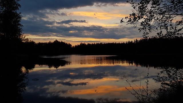 Bunter Sonnenuntergang. Colorful Sunset.