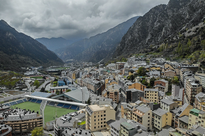 Drone view of Andorra