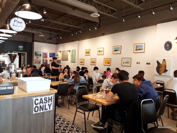 Starving Artist Waffles & Espresso Markham interior