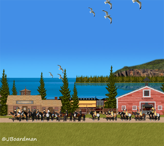 The Posse & Silverthorn Riders departed Danger Bay ©Jack Boardman