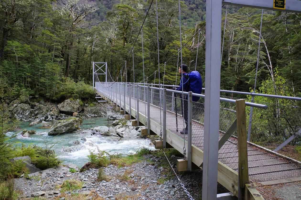 ルートバーントラック 吊り橋