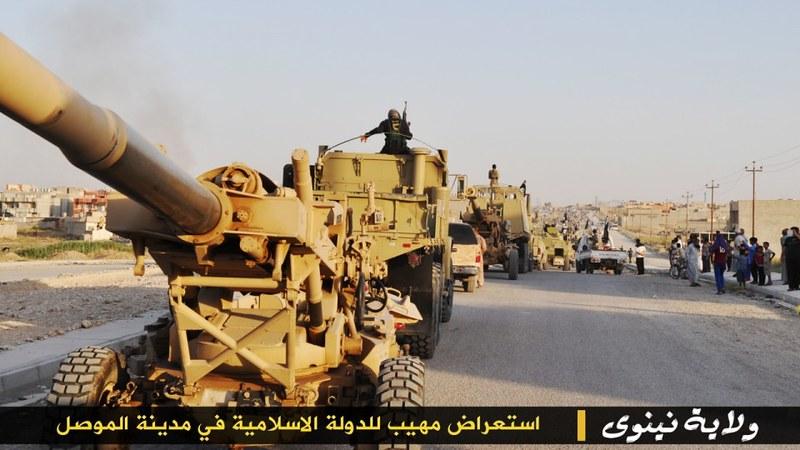 155mm-M198-isis-parade-mosul-iraq-2014-lwj-2