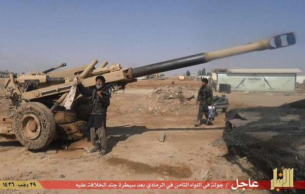 155mm-M198-isis-ramadi-iraq-2015-wp-1