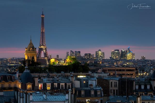 Eglise Notre-Dame-des-Champs, Tour Eiffel & La Défense, Paris