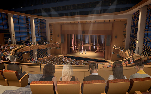 An artist rendering of the Woltosz Theatre