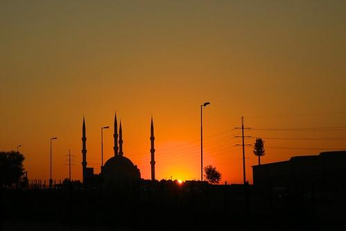 mosque midrand gauteng southafrica sunrise sun dawn nizamiye complex nizamiyecomplex turkish