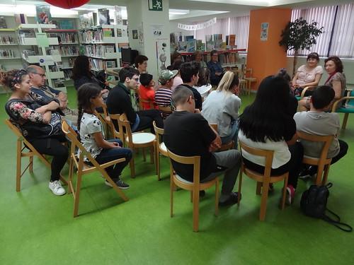25è Aniversari de la Biblioteca. Visita de Maite Carranza