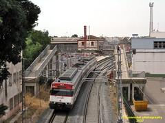 Tren de Cercanías de Renfe (Línea C-6) a su paso por BURRIANA (Castellón)