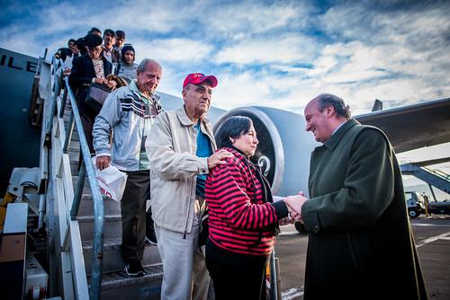 Quinto Vuelo Esperanza llegó a Chile con 176 compatriotas
