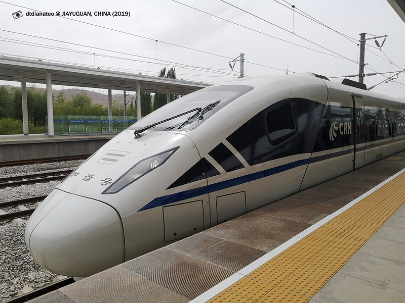 2019 China Bullet Train Jiayuguan to Linze