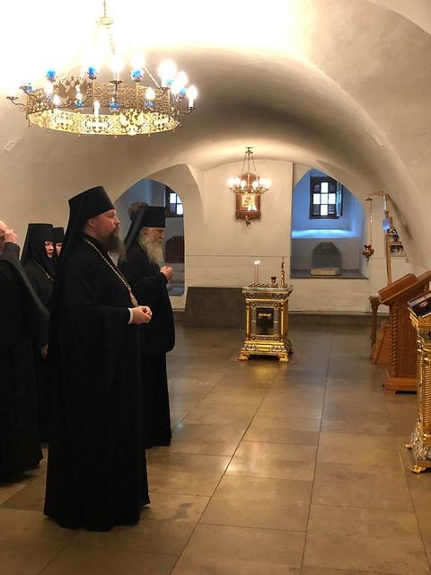 30 мая 2019 года Новоспасскую обитель посетил архиепископ Каширский Феогност