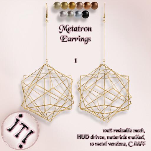 !IT! – Metatron Earrings 1 Image
