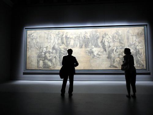 Milano - Pinacoteca Ambrosiana - Cartone della Scuola di Atene di Raffaello