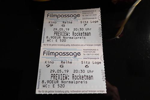 """Eintrittskarten für die Preview des Films """"Rocketman"""""""