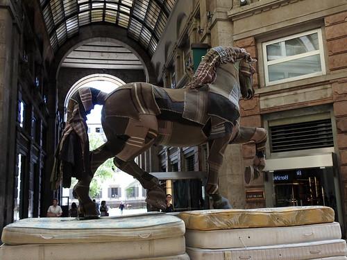 Milano - Cavallo Leonardesco in Corso Vittorio Emanuele