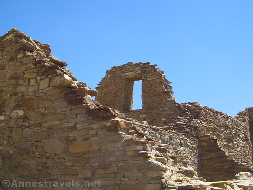 Window high in a wall at Pueblo Bonito, Chaco Culture National Historical Park, New Mexico