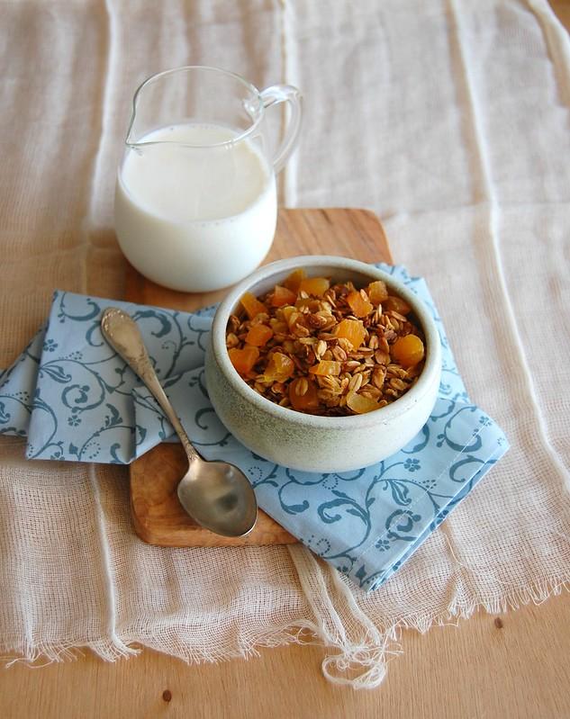Granola de laranja e azeite de oliva