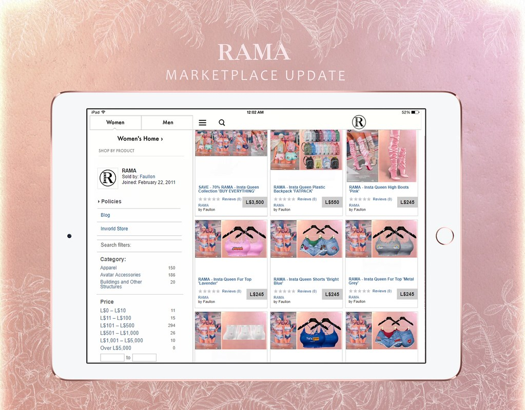 RAMA - Marketplace Update May 2019 - TeleportHub.com Live!