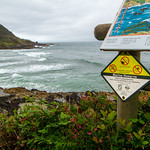 Cape Perpetua - Sign for North Reserve Boundary