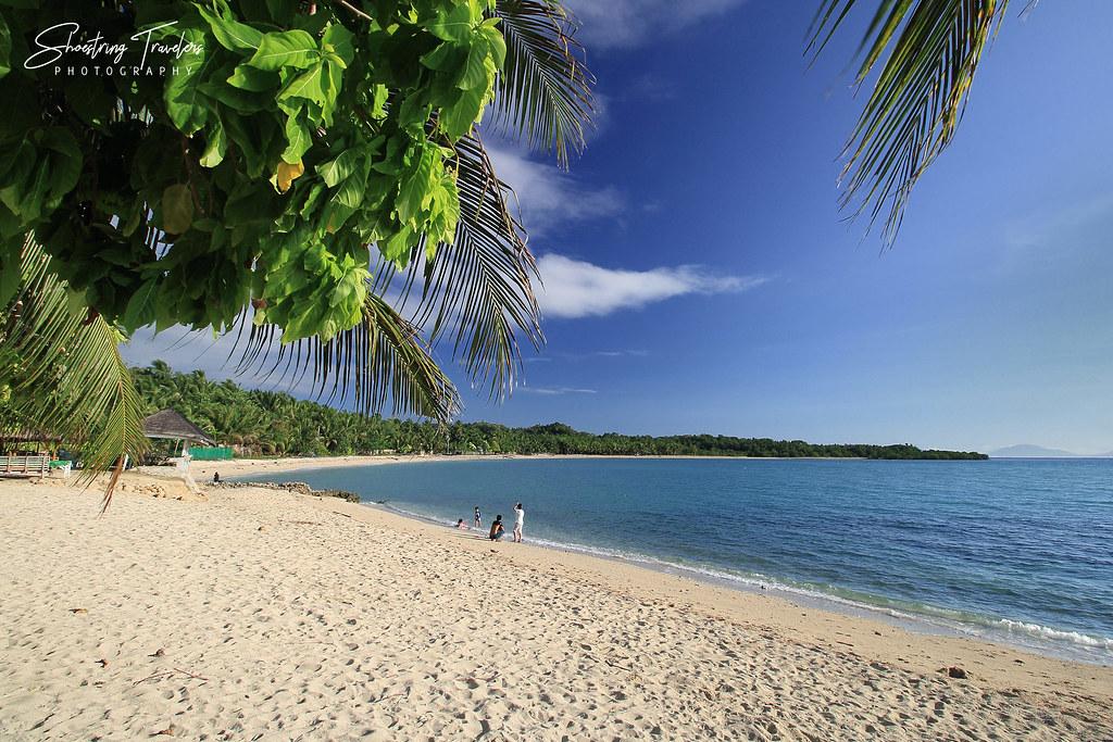 tranquil beach scene in San Fernando