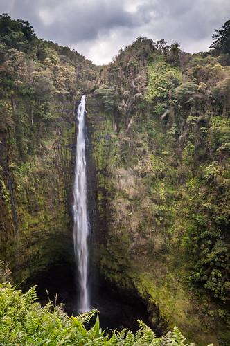 bigisland hawaii unitedstates akakafallsstatepark akakafalls waterfall