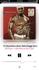 Listened to 50 Cent (Feat. Nate Dogg) - 21 Questions (05/30/19) #50cent #natedogg #21questions #getrichordietryin #studioalbum #hiphop #rap #applemusic