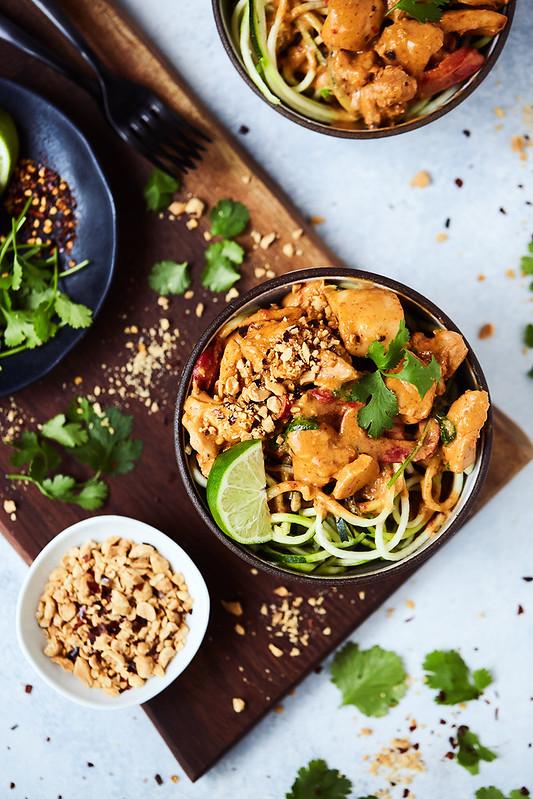 Instant Pot Thai Peanut Chicken {Keto, Gluten-free}