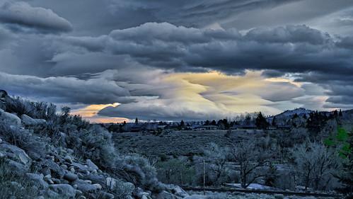 cloudsweather storm black dark dusk sunset truckee reno nevada lawton 4thst mixedlandscape donbachman narodniemstiteli marshalartsofchilcoot