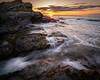 Beavertail Point Sunrise by Derek Boen