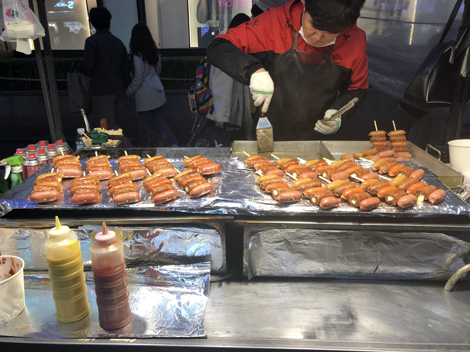 Myeongdong Street Food in Myeongdong Market